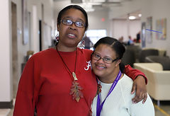 Two young women with developmental disabilities