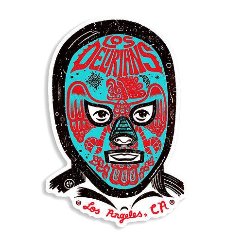 """Los Delirians 5"""" Lucha Sticker"""