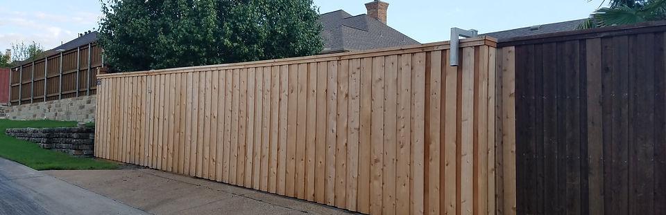 Sliding Wooden Gate