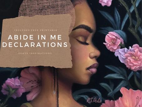 Abide in Me Declarations