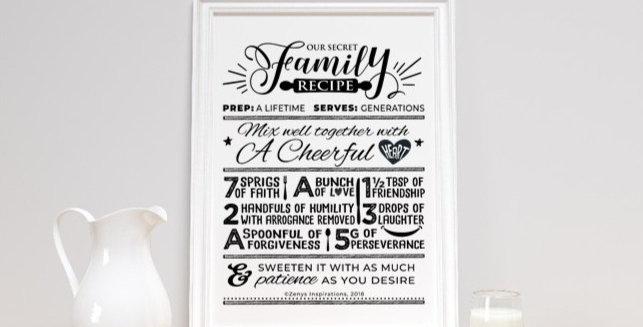 Our Secret Family Recipe DIGITAL