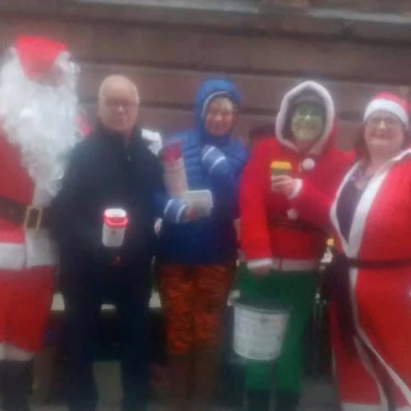 Santa's Raising Funds for Homeless