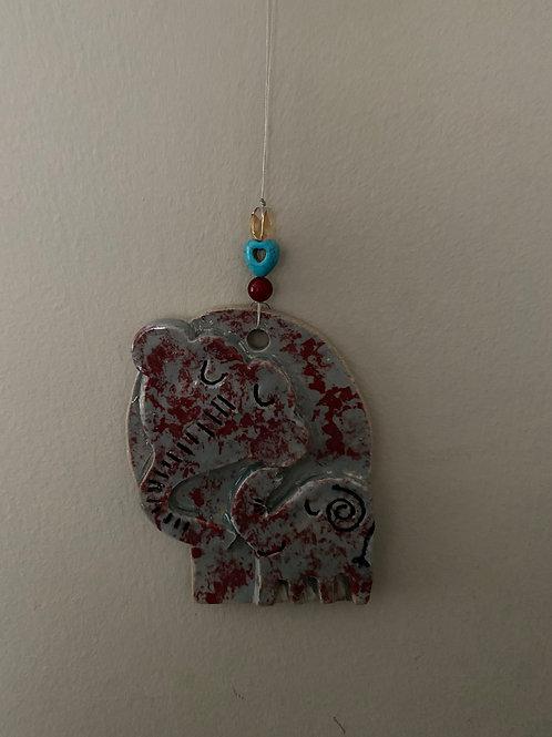 Mama & Baby Elephant Wall Hanging