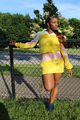 """SUNSHINE"" 2 PC Skirt Set"