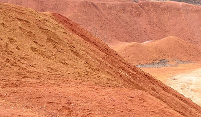 Bauxite mine, raw weathered bauxite sedi