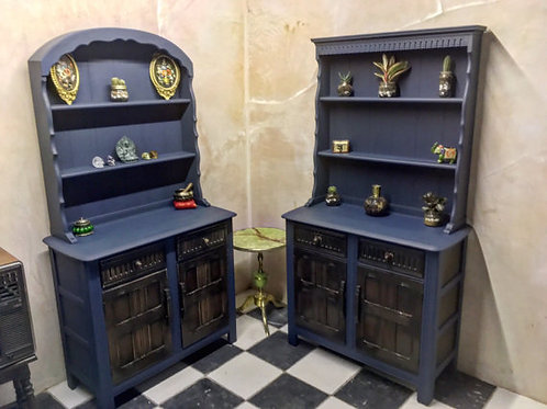 Upcycled Vintage Display Cabinets - Set of 2