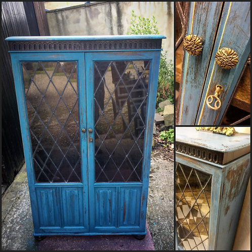 Upcycled Vintage Glass Cabinet