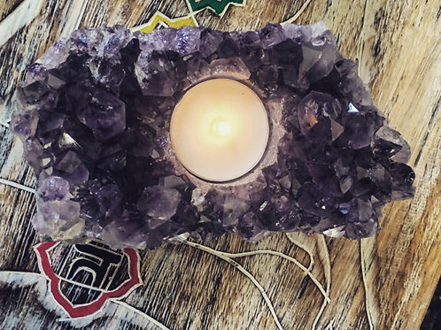 Amethyst T-Light Holder