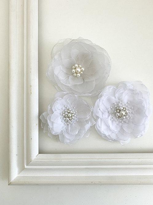 Flores Magnólia + Flor de Organza | Pronta- entrega