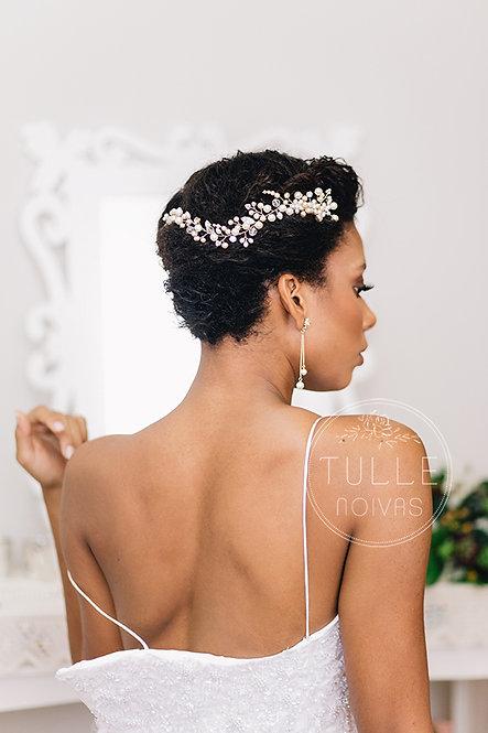 arranjo pente de pérolas para noivas