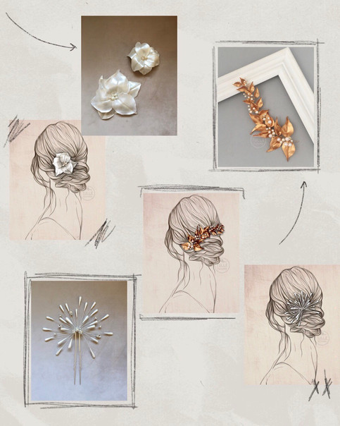 Um penteado, três acessórios