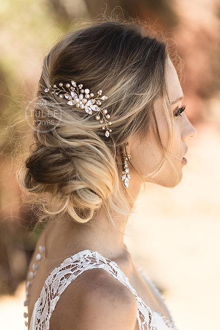 arranjo de pérolas para noivas