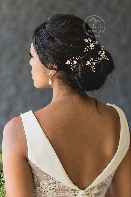 grampos pérolas para noiva