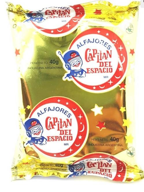 Capital del Espacio Alfajores Chocolate con Dulce de Leche