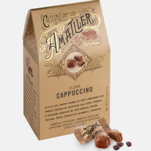 Amatller Flors Cappuccino Chocolate Cappuccino Creme Flowers  72g