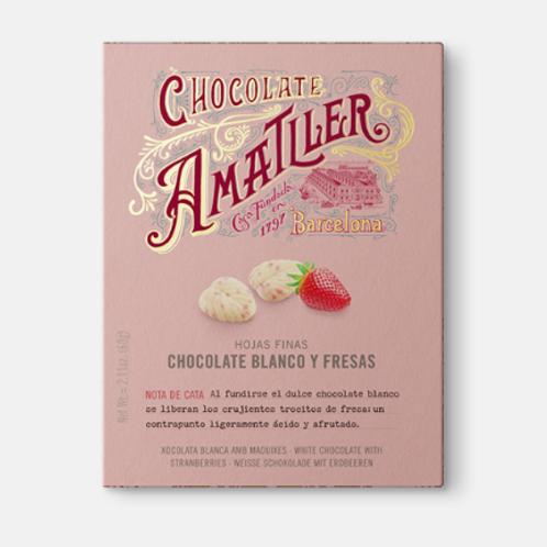Amatller Chocolate Blanco y Fresas 60g