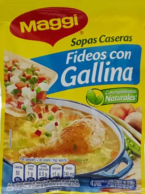 Maggi Fideo con Gallina Soup