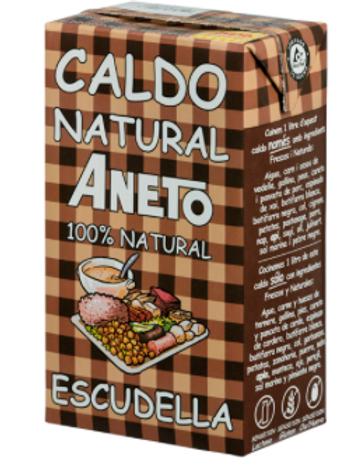 Aneto Escudella Caldo Natural Paella Stock 1lt Tetra