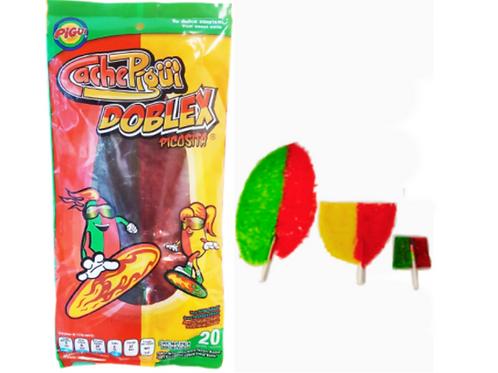 Chamoy / Cucumber / Mango Doblex Slaps Lollipops Cachepigui 10 pieces per packe