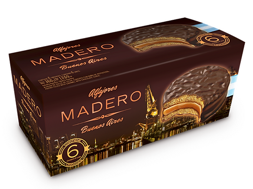 Madero Alfajores Chocolate con Dulce de Leche
