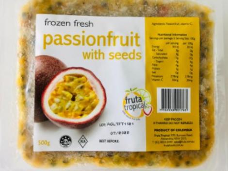 Frozen Fresh Pulp Passionfruit 500g
