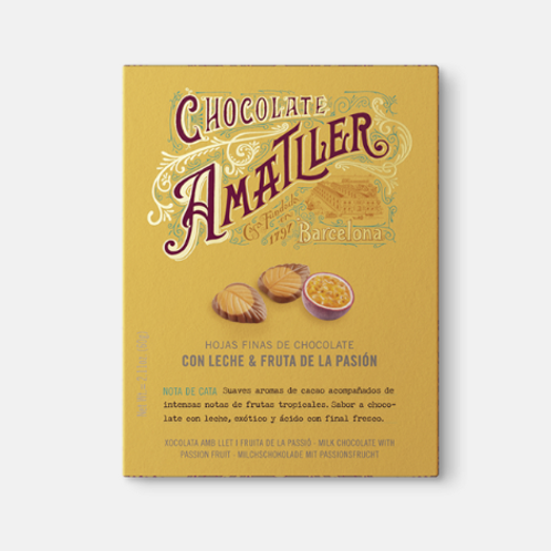 Amatller Milk Chocolate with Passionfruit 60g
