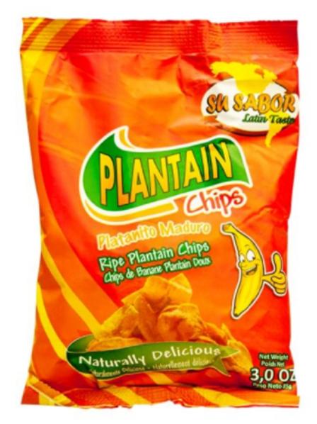 Su Sabor Plantain Chips Maduro