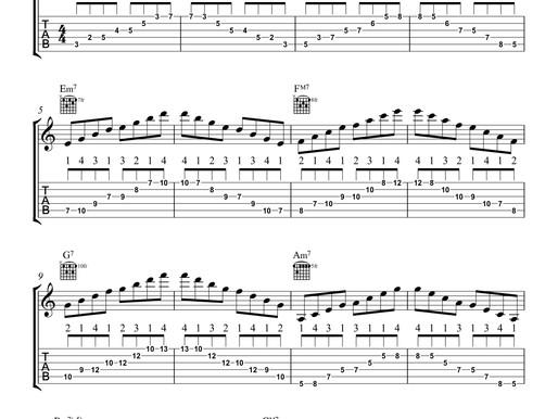 アルペジオの練習(大学軽音レベル)