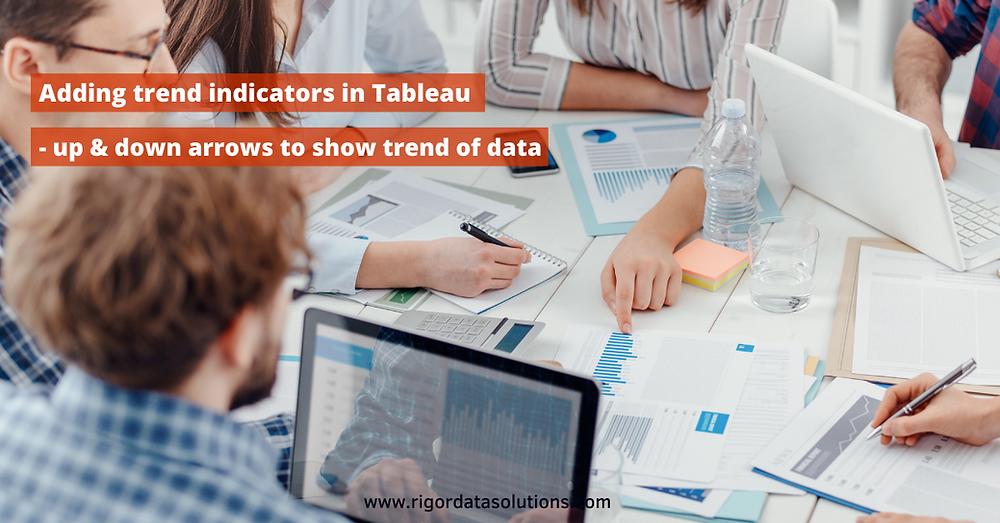 Adding trendline indicators in tableau