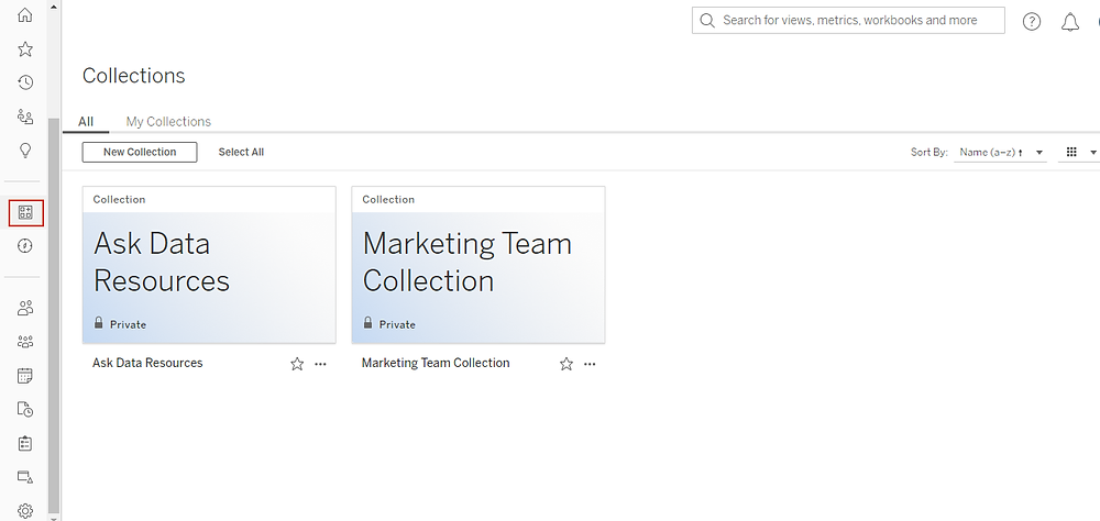 Tableau collections