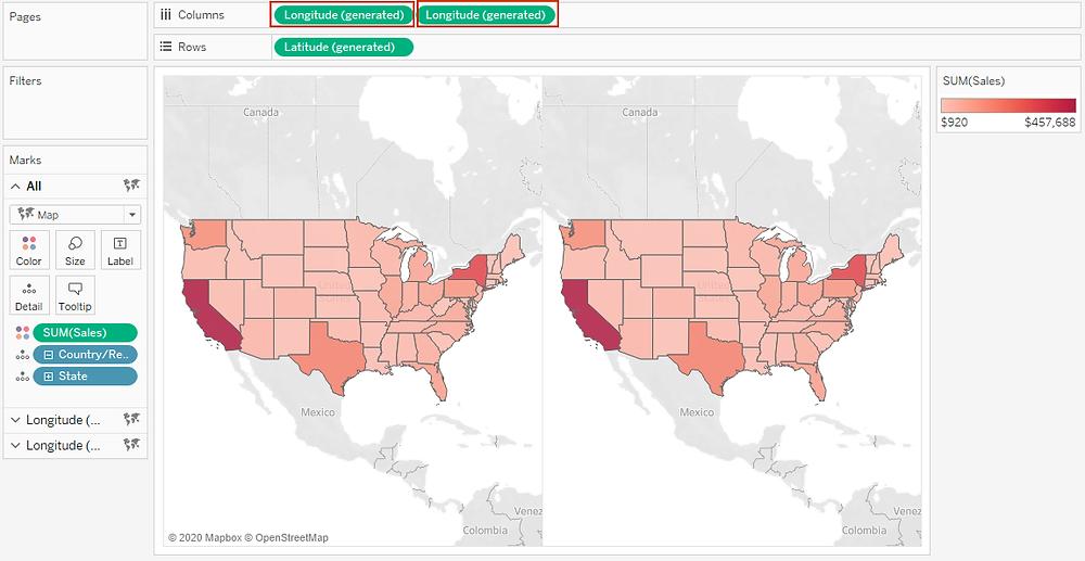 Duplicating map views