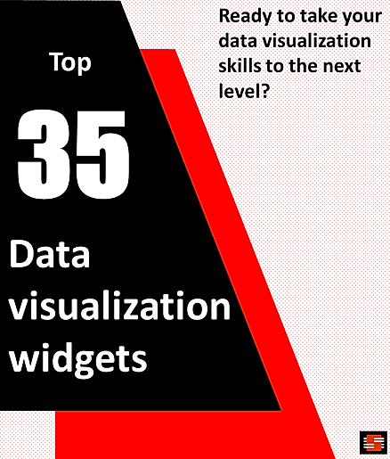 35 Data visualization widgets E-book tit