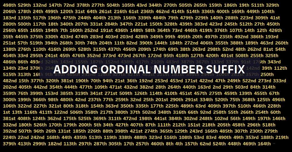 Adding ordinal number suffix in Tableau