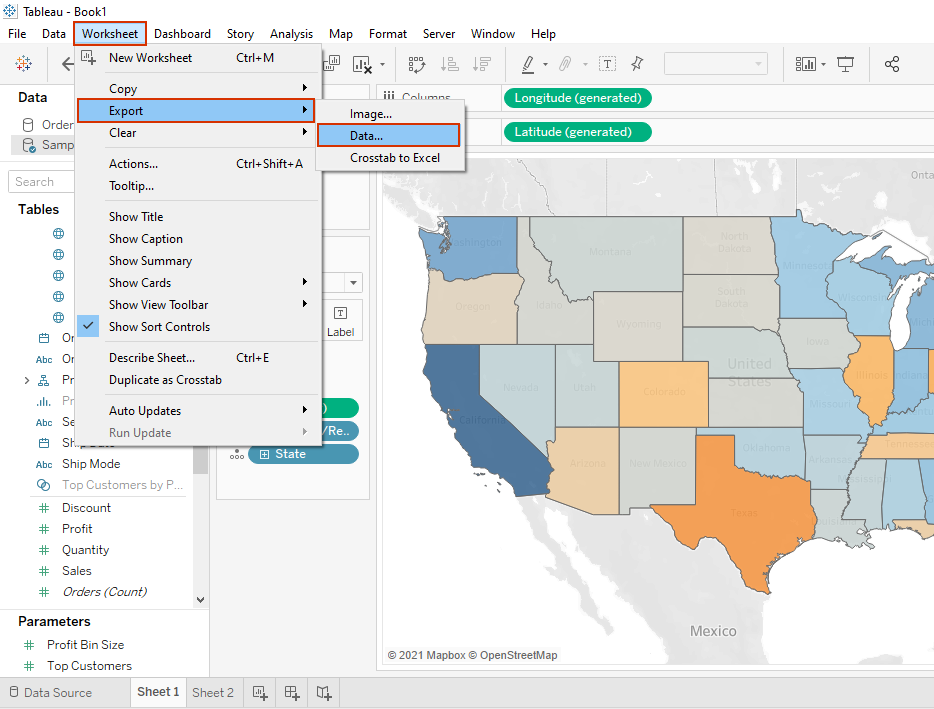 exporting data in tableau to microsoft access
