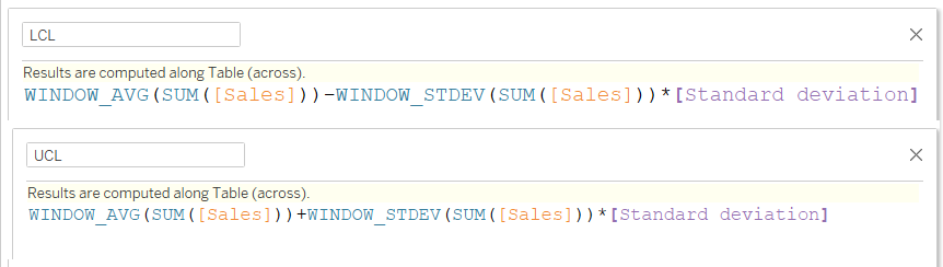 adding parameter to the upper and lower limit calculations