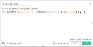 Computing difference using LOOKUP() function