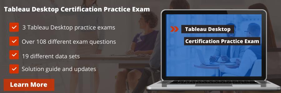 Tableau desktop certification practice exam