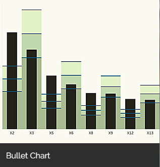 Example of a bullet chart