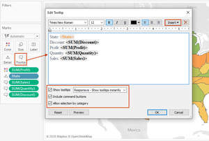 Formatting tableau tooltip