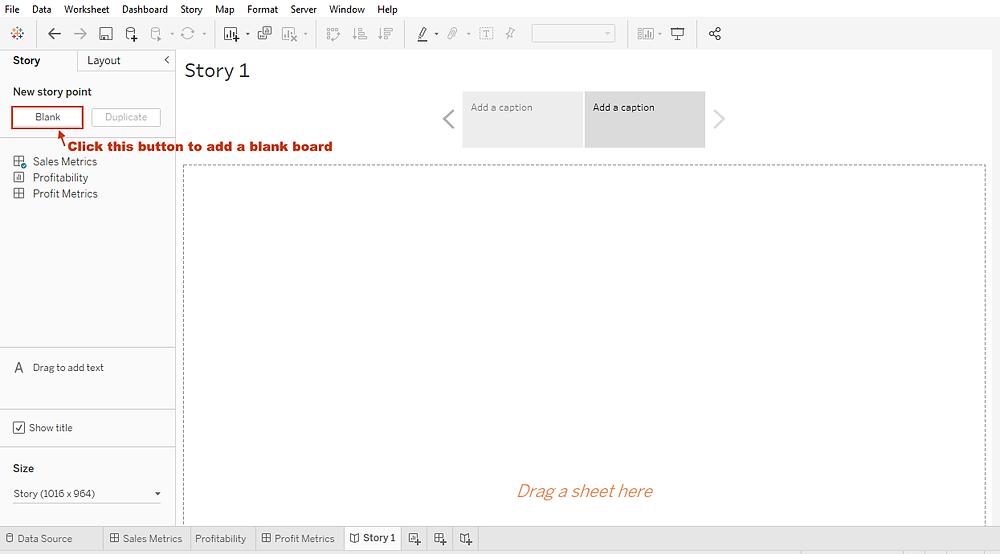 introducing a blank storyboard