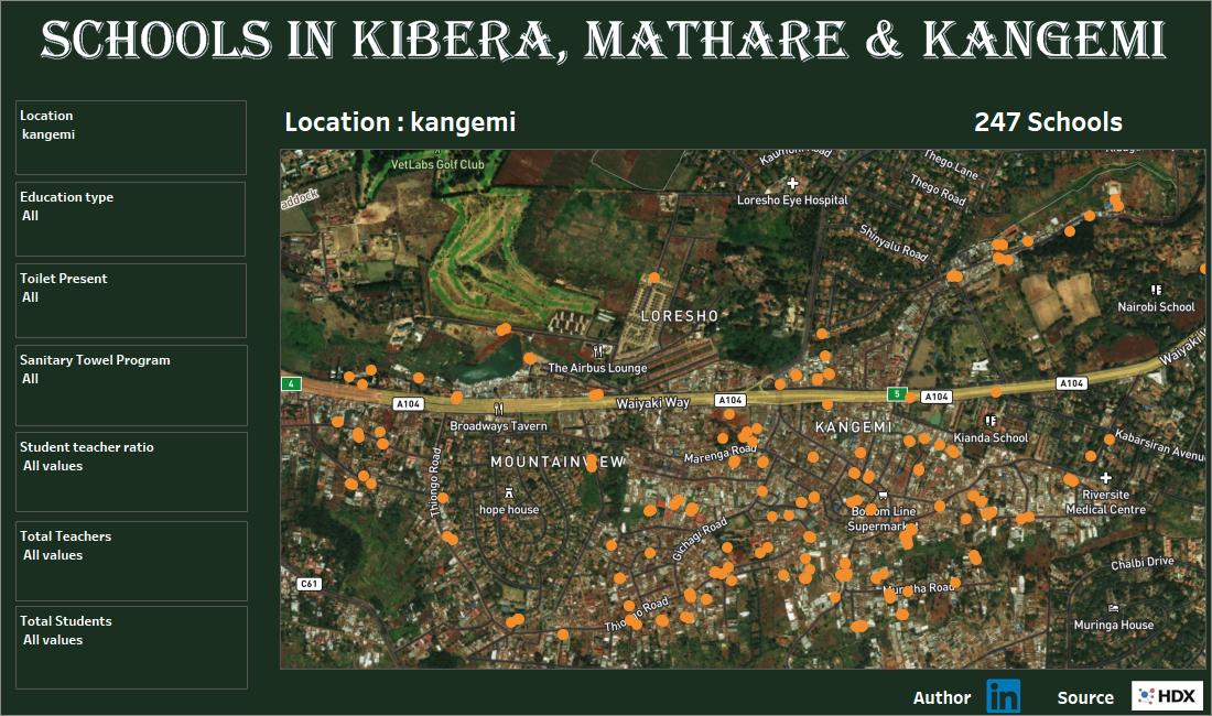 KENYA SCHOOLS - KIBERA, KANGEMI & MA