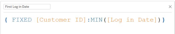 computing first login date