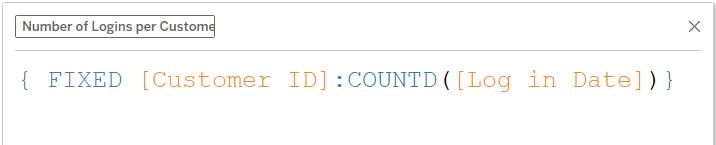 computing number of logins per cutomer