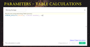Tableau parameters with Tableau calculations