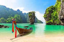 Famous James Bond island near Phuket in