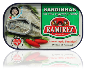 Sardinha Óleo vegetal Picante 125 gr