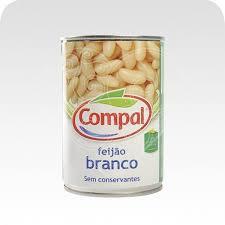 Feijão Branco Lata 410 gr