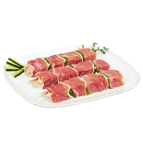 Espetadas de Porco +-200gr / Preço por 100gr