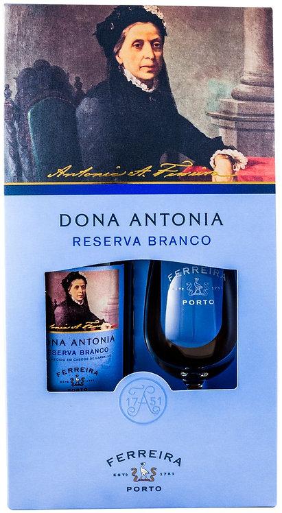 Vinho do Porto D. Antónia Reserva Branco c/ copo