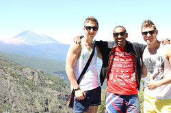 Swedish students in Teide